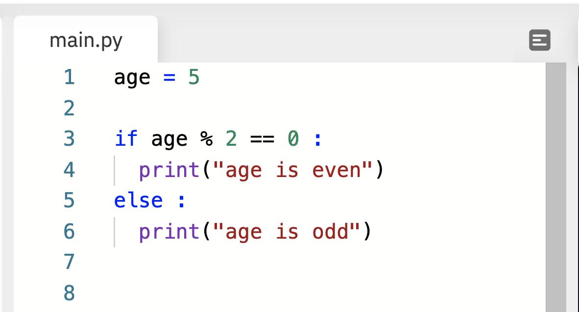 if/else statement in Python language