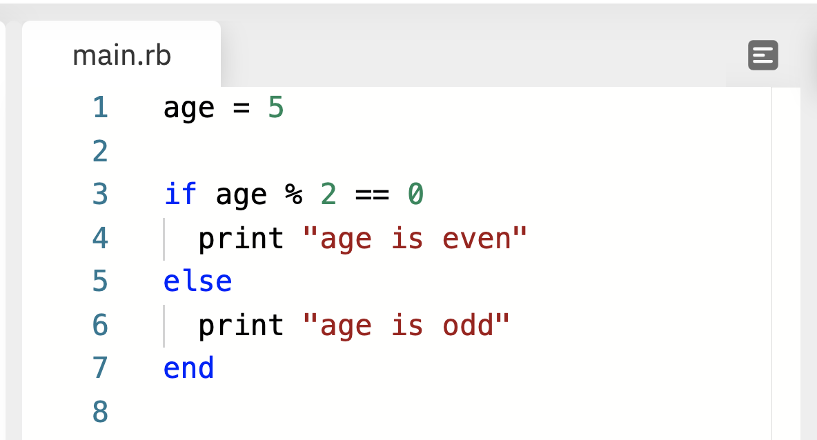 if/else statement in Ruby language
