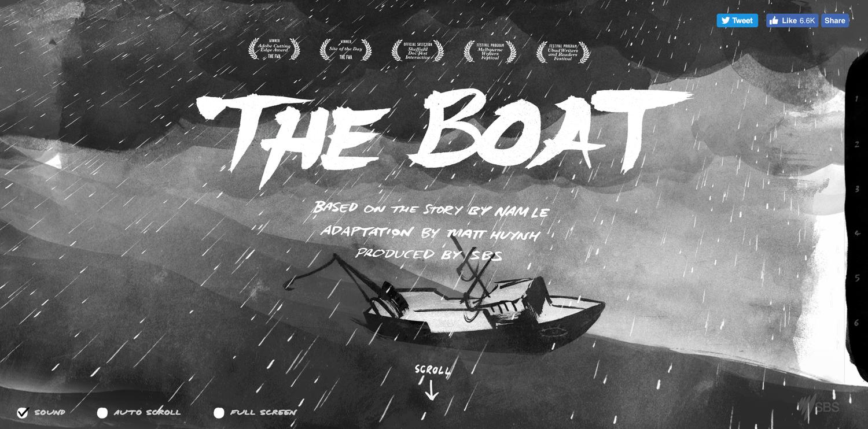 The boat interactive story screenshot